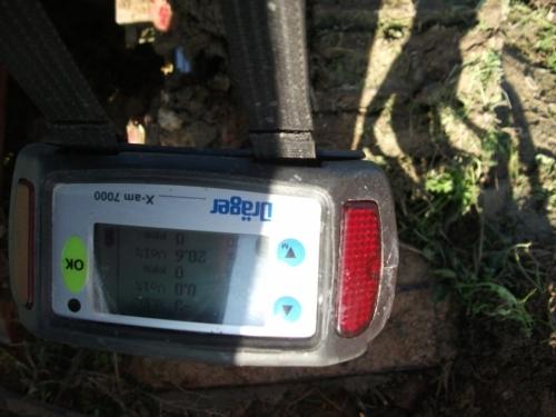 Esplosivimetro drager durante perforazione biogas Campobello di Licata Agrigento.JPG